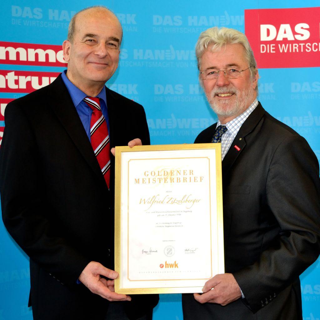 Auszeichnung Zitzelsberger mit Meisterbrief Zitzelsberger GmbH