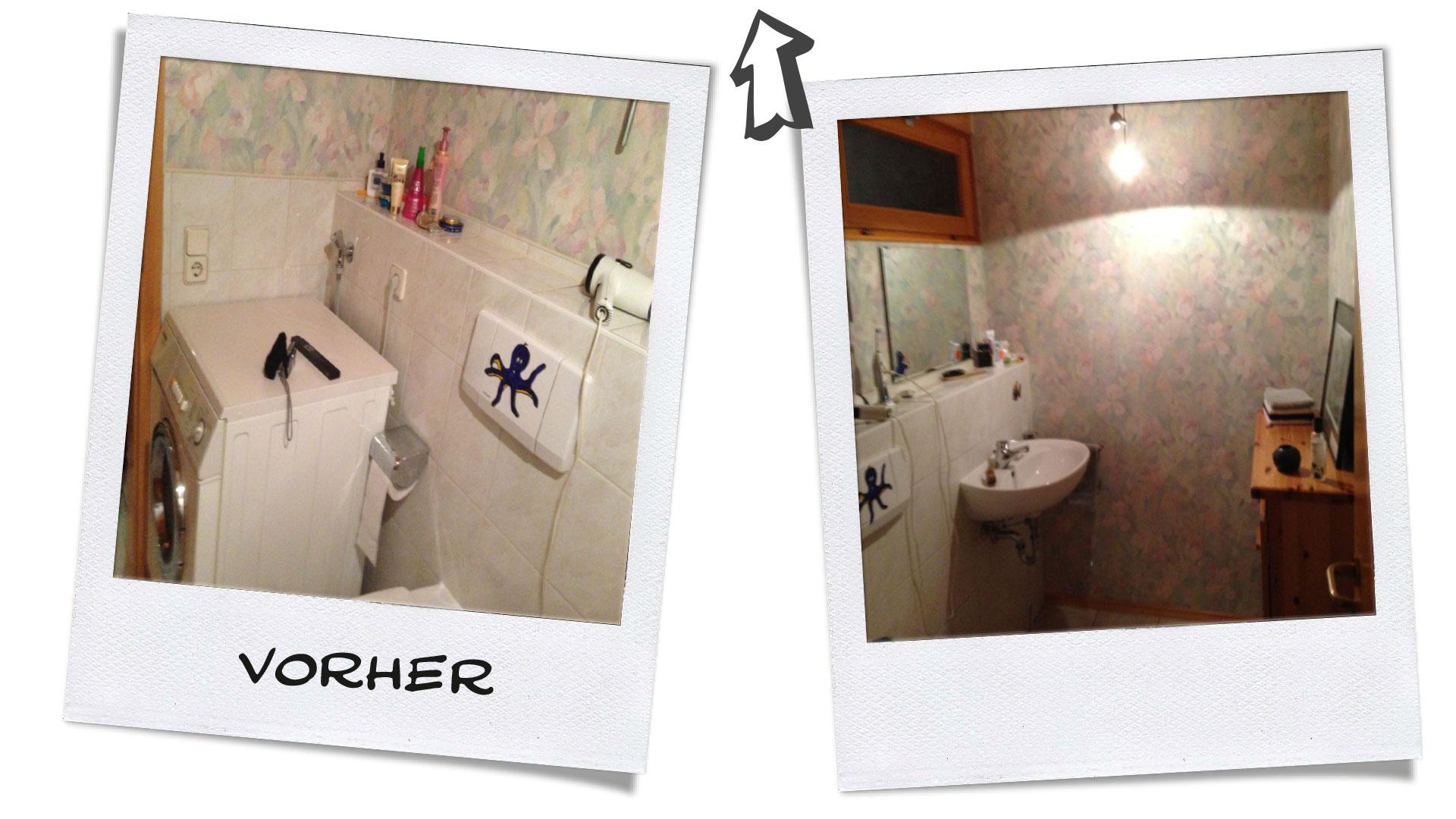 Gäste-WC Vorher-Nachher Beispiel Zitzelsberger GmbH