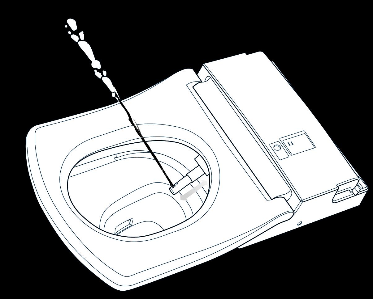 Schema-Zeichnung Japan-WC Washlet Japanische Badkultur exklusiv bei Zitzelsberger