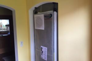 Staubschutztüre für Badsanierung Zitzelsberger Augsburg