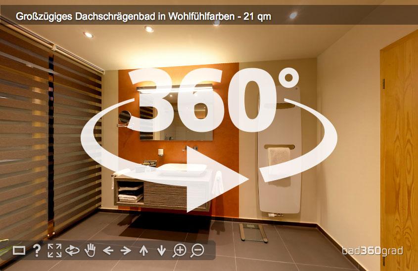 Panorama Bad mit Dachschrägen Zitzelsberger GmbH