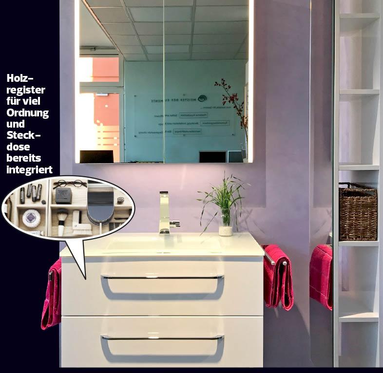 Badmöbel außen klar – innen Ordnung Hygge Stil von Zitzelsberger