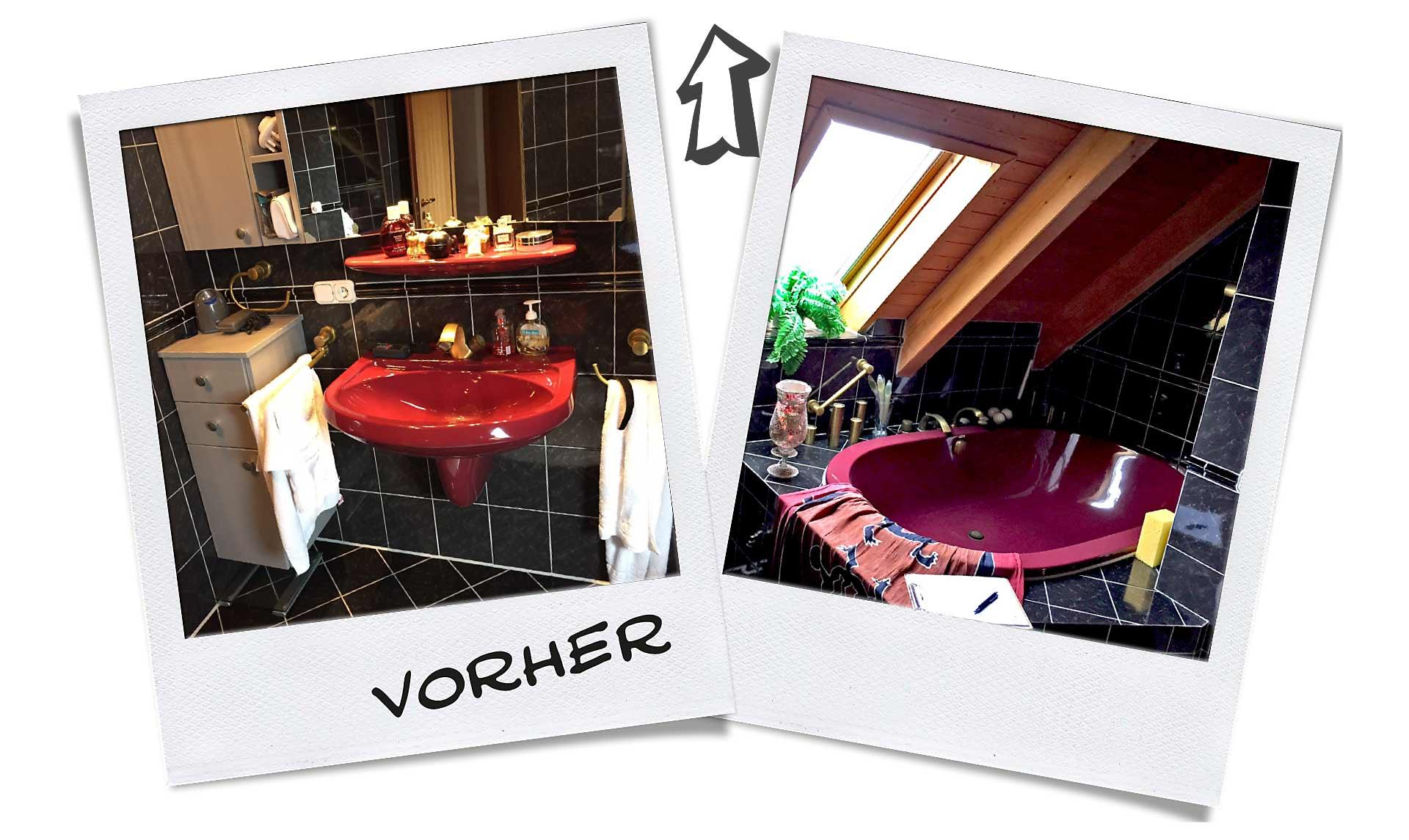 Vorher Bilder des von Zitzelsberger modernisierten Bades