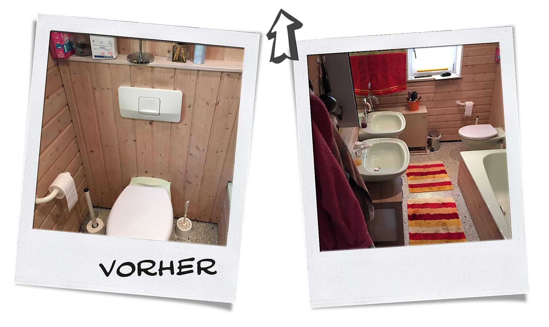 Badrenovierung Vorher Nachher Vergleich