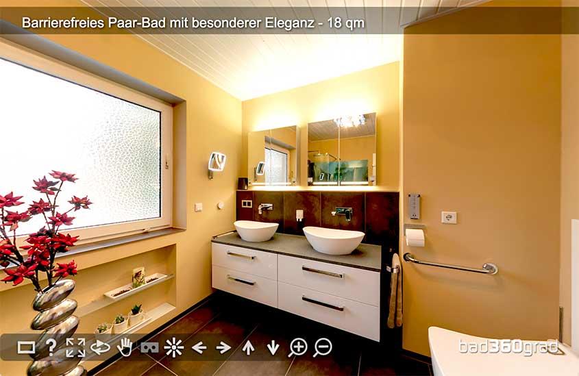 barrierefreies Bad mit extra viel Chic 360-Grad Vorschau