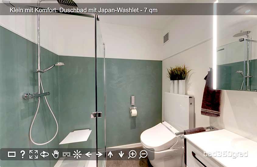 kleines Bad mit grossem Komfort 360-Grad Vorschau