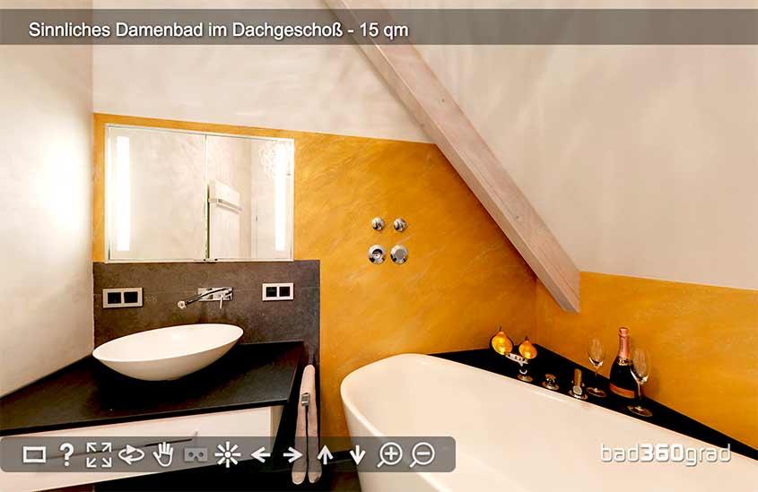 sinnliches Damenbad 360-Grad Vorschau