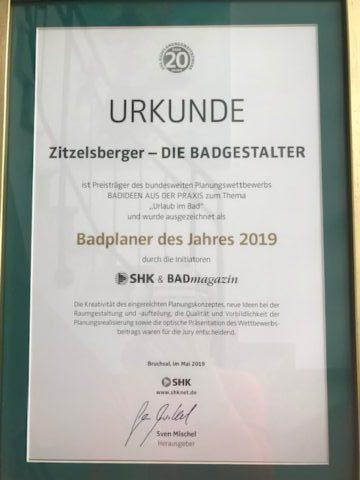 zitzelsberger augsburg badplaner des Jahres 2019