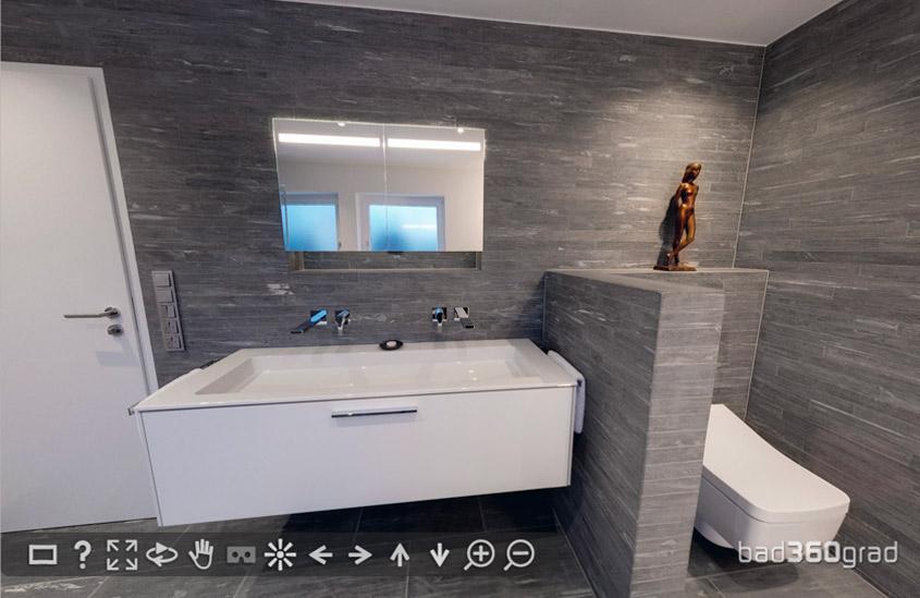 Badezimmer mit Valser Quarzit