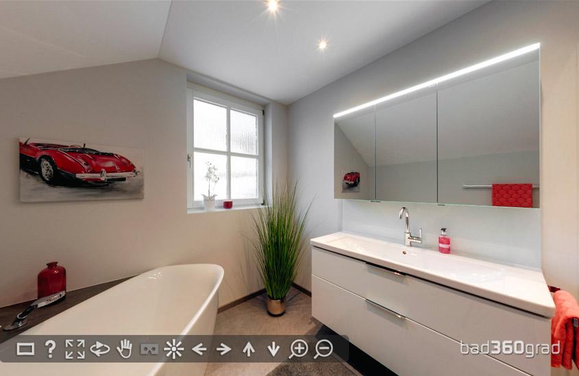 Badezimmer unterm Dach
